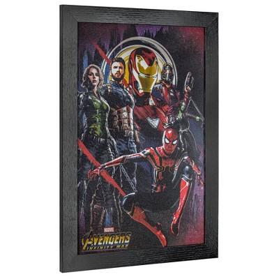 Licensed Marvel Comics Avengers: infinity War Wall Art Black - Crystal Art Gallery