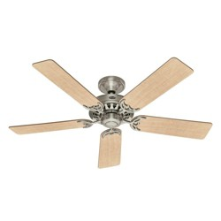 Hunter 159919 Architect 52 Inch 5 Blade Reversible Ceiling Fan, Maple/Chestnut