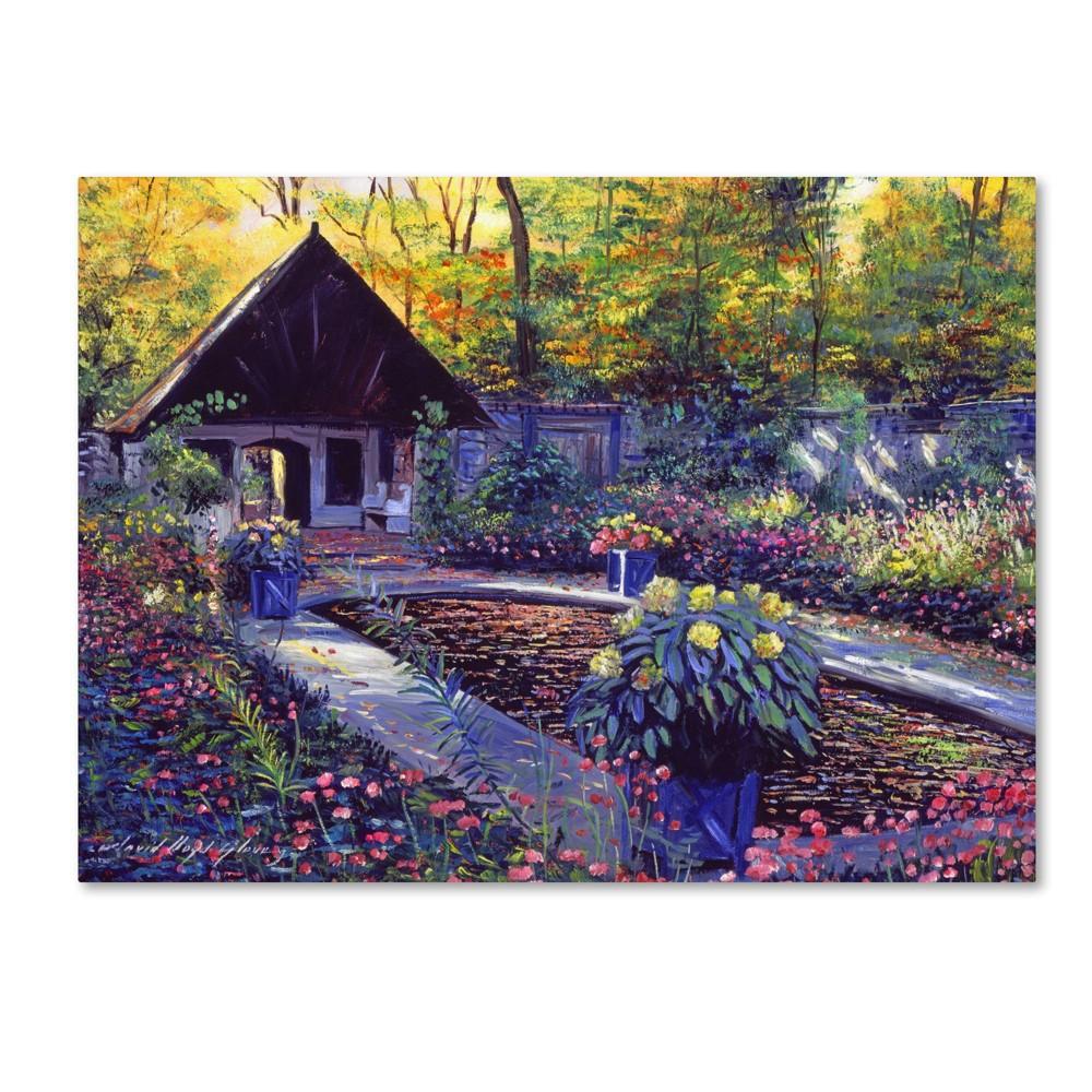35 34 X 47 34 Blue Garden Impression By David Lloyd Glover Trademark Fine Art