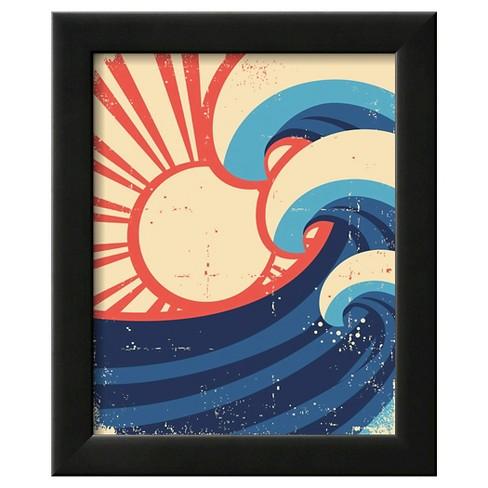 Art.com - Sea Waves Poster. Grunge Illustration Of Sea Landscape - image 1 of 3