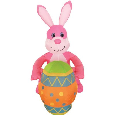 Easter 4ft Inflatable Bunny with Egg