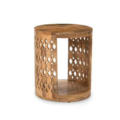 Brinley Round End Table Natural - Steve Silver