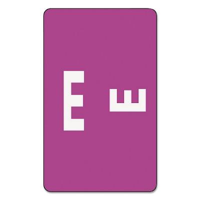 Smead Alpha-Z Color-Coded Second Letter Labels Letter E Purple 100/Pack 67175