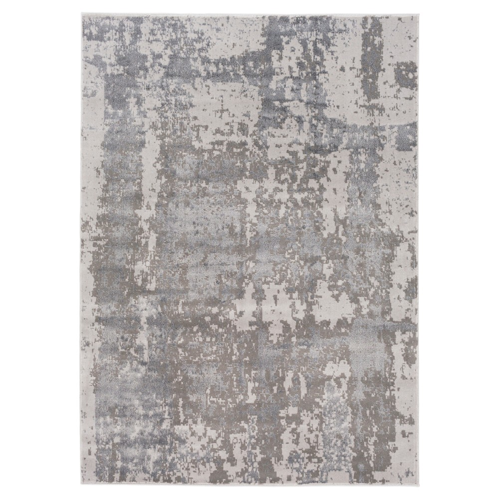 Taupe Brown Abstract Tufted Area Rug - (5'3