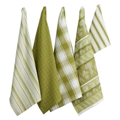 5pc Cotton Kitchen Set Green - Design Imports