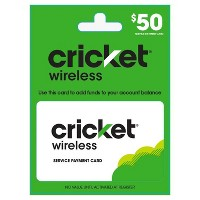 $50 Cricket Wireless Service Payment Card
