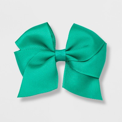 Girls' Solid Bow Clip - Cat & Jack™ Teal