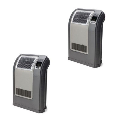 Lasko CC24841 Portable Space Saving Digital Cyclonic Ceramic Space Heater with Remote Control, Gray (2 Pack)