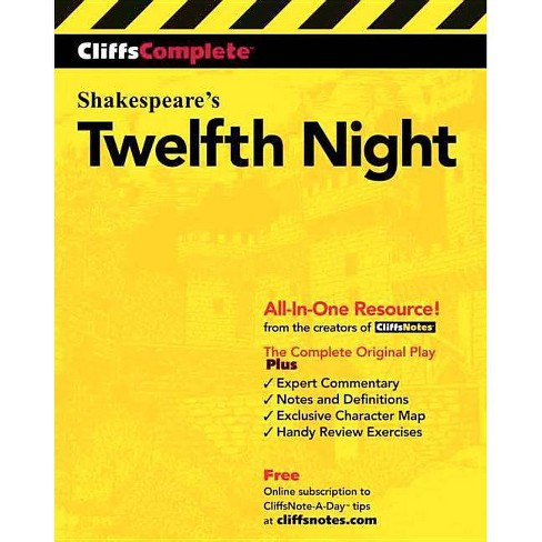 Cliffscomplete Twelfth Night - (Cliffs Complete) by  William Shakespeare (Paperback) - image 1 of 1