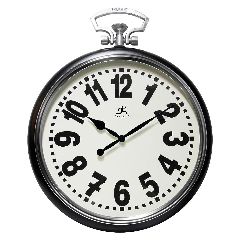 The Broadway Stopwatch Wall Clock Black - Infinity Instruments
