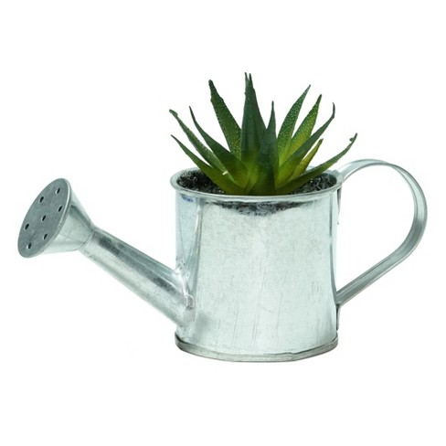 Northlight 4 25 Aloe Vera Succulent In Watering Can Artificial