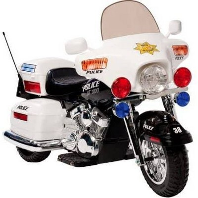 Kid Motorz 12V Police Motorcycle Powered Ride-On - White