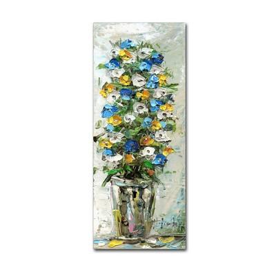 "10"" x 24"" Spring Flowers in a Vase 2 by Hai Odelia - Trademark Fine Art"