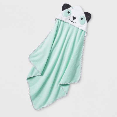 Baby Girls' Panda Hooded Towel - Cloud Island™ Mint One Size