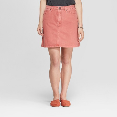 Women's Denim Mini Skirt - Universal Thread™ Rose - image 1 of 3