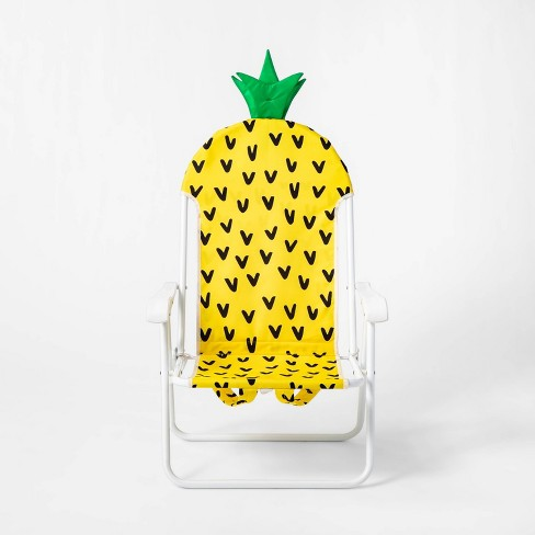 Pineapple Backpack Portable Chair Yellow - Sun Squad™ - image 1 of 4