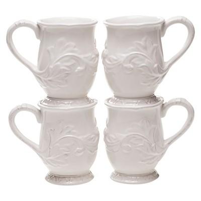 Certified International Firenze Ivory Mug Set of 4 (16 oz.)