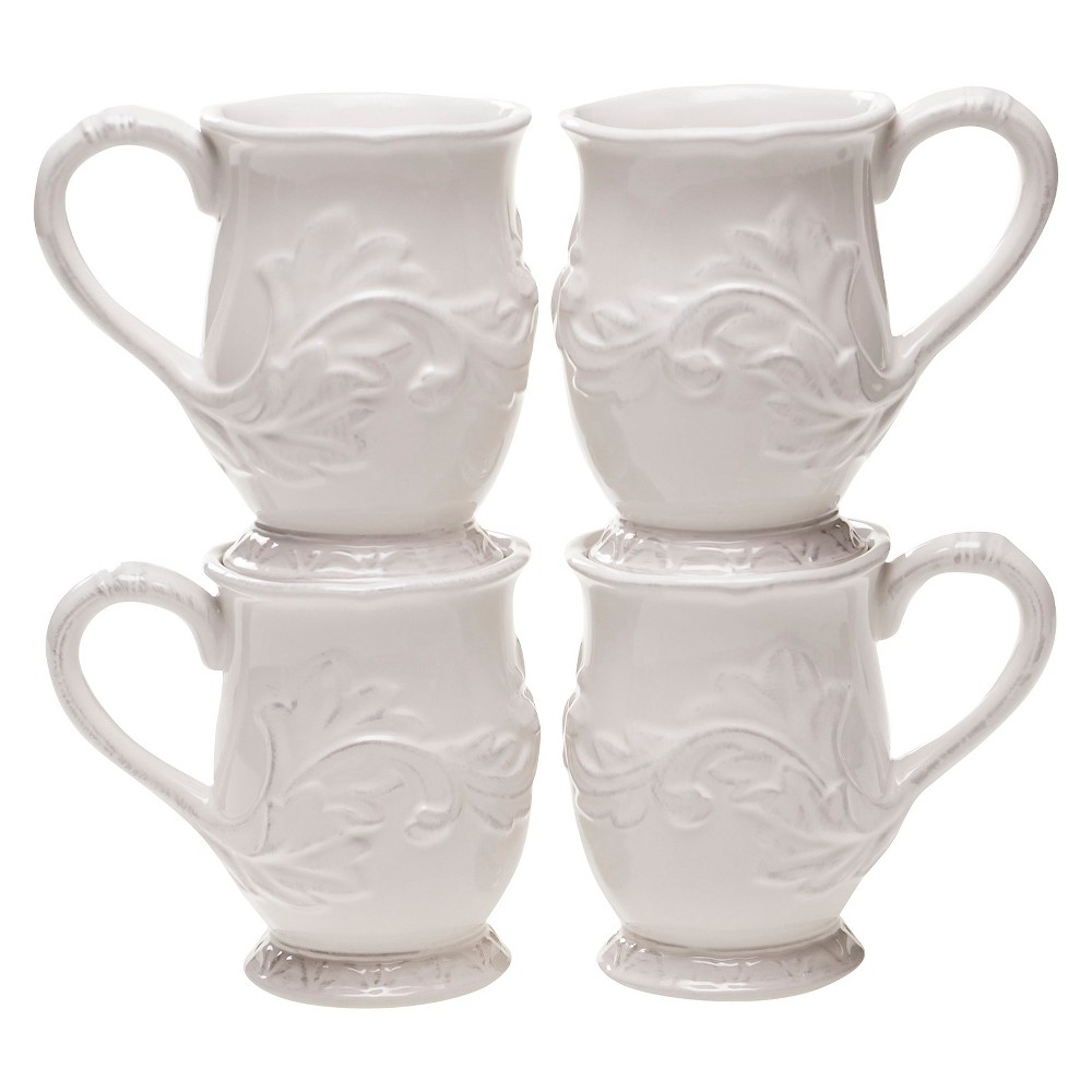 Certified International Firenze Ivory Mug Set of 4 (16 oz.)