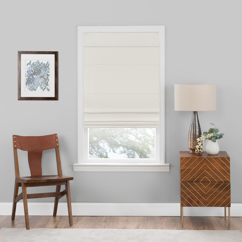 Cordless Roman Window Shade Ivory (23
