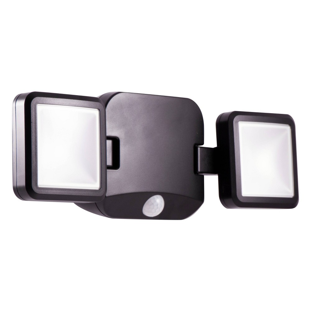 Energizer 600 Lumens Outdoor Led Motion Sensing Dual Head Security Outdoor Wall Light Black