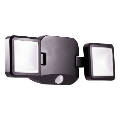 Energizer 500 Lumens Outdoor LED Motion Sensing Dual Head Security Light Black - image 1 of 4