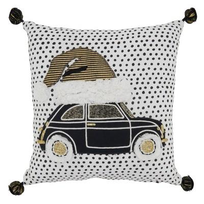 Holiday Car Poly Filled Throw Pillow - Saro Lifestyle