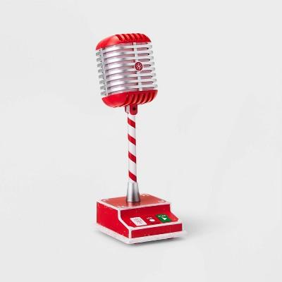 Animated Talking Microphone Decorative Figurine Red - Wondershop™