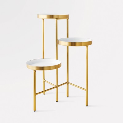 3 Tier Accent Table - White/Gold - Project 62™