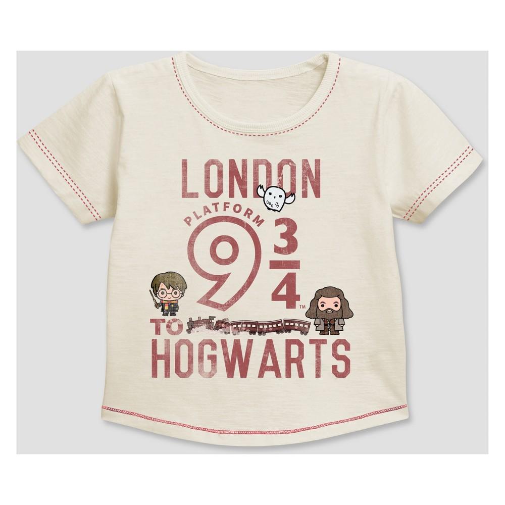 Toddler Boys' Harry Potter Short Sleeve T-Shirt - White 3T, Beige
