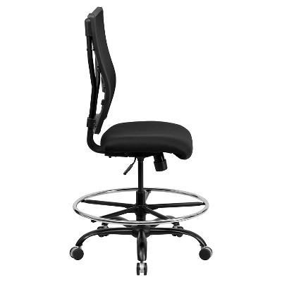 Capacity Big U0026 Tall Drafting Chair Black Mesh   Flash Furniture : Target