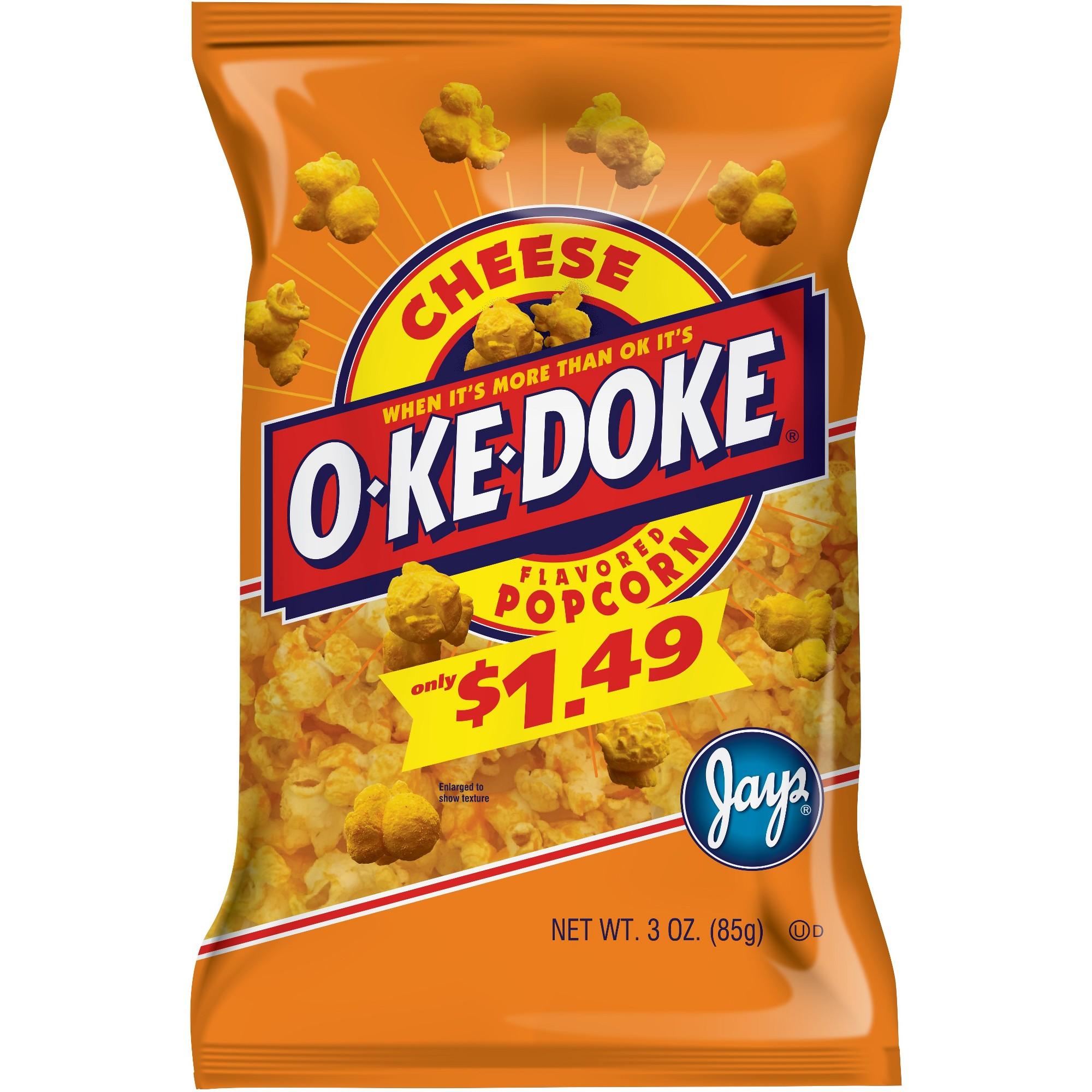 O-Ke-Doke Cheese Flavored Popcorn - 3oz