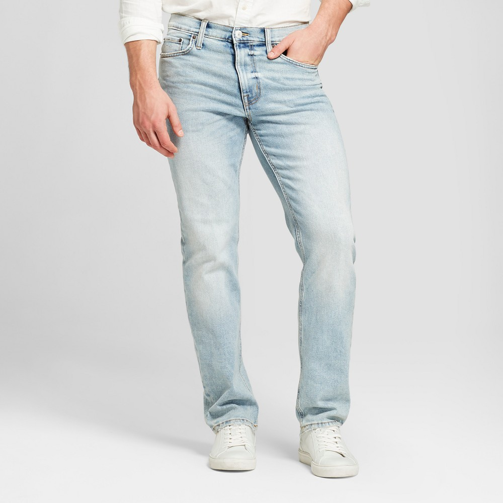 Men's Slim Straight Fit Jeans with Coolmax - Goodfellow & Co Light Wash 32x30, Blue