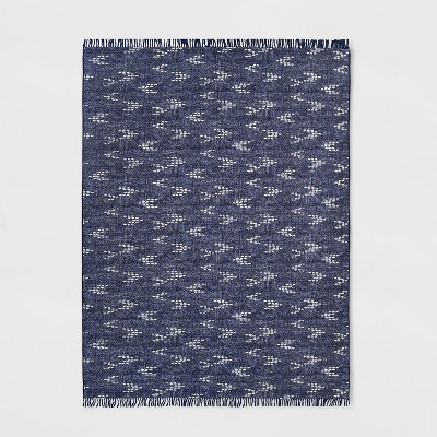 9' x 12' Staccato Outdoor Rug Navy - Threshold™