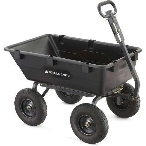 Gorilla Carts Heavy-Duty Poly Yard Dump Cart with 2 In 1 Convertible Handle Capacity - image 1 of 4