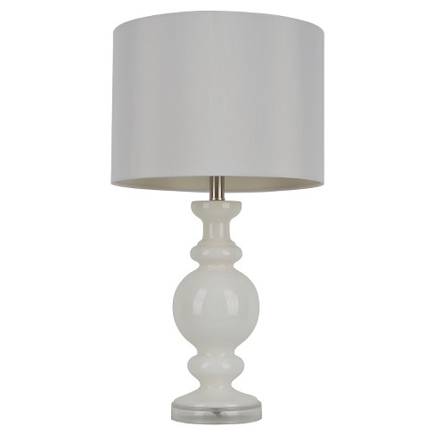 J Hunt Milk Glass Table Lamp White 27 Target