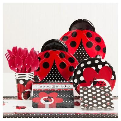 Ladybug Fancy Birthday Party Supplies Kit