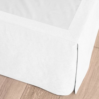 King Linen Blend Bedskirt White - Casaluna™