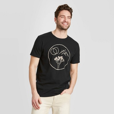 Men's Regular Fit Short Sleeve Crew Neck Explore Graphic T-Shirt - Goodfellow & Co™ Black