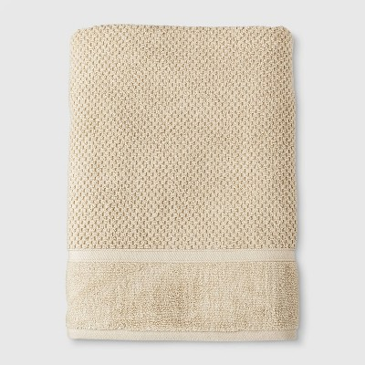 Performance Texture Bath Sheet Beige - Threshold™