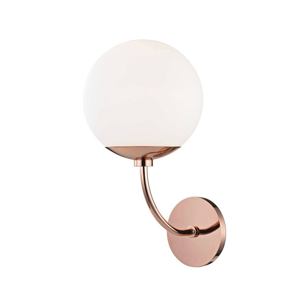 Carrie 1-Light Wall Sconce Polished Copper - Mitzi by Hudson Valley Buy