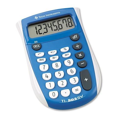 Texas Instruments TI-503SV Pocket Calculator 8-Digit LCD TI503SV - image 1 of 3