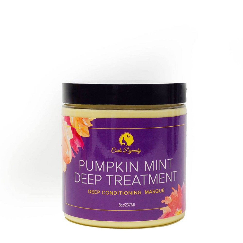 Image of Curls Dynasty Pumpkin Mint Deep Treatment Deep Conditioning Masque - 8oz