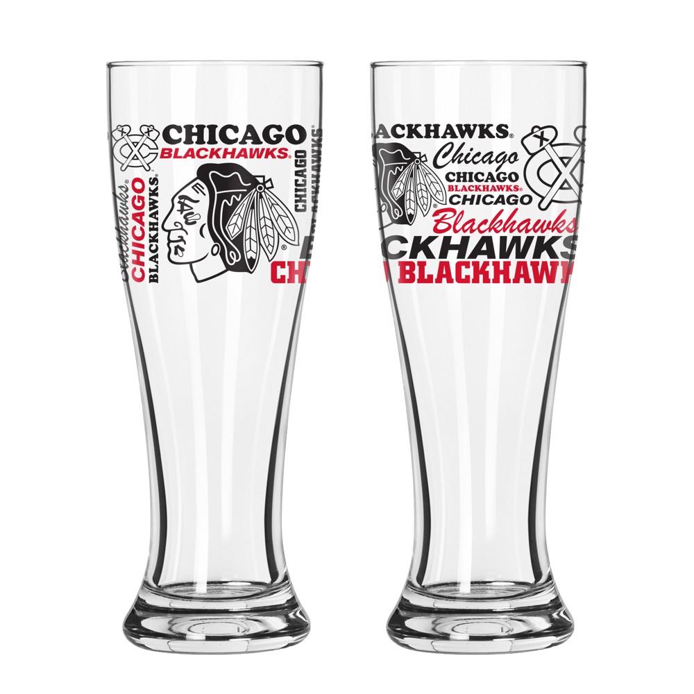 Chicago Blackhawks 2pk Spirit Pilsner Glasses