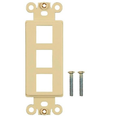 Monoprice Dcor Insert for Keystone 3 Hole - Ivory  for Home Office  Install