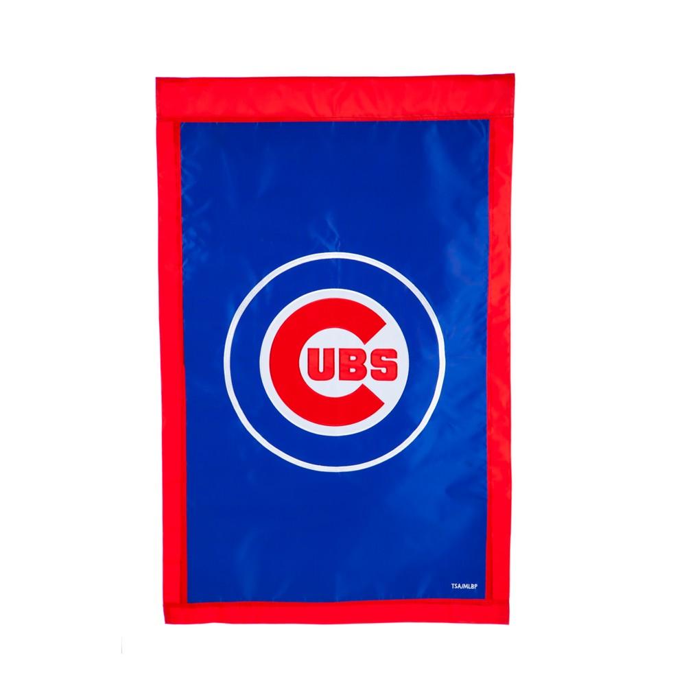 Chicago Cubs Applique House Flag