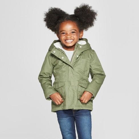 9808f9100 Toddler Girls  Military Jacket - Cat   Jack™ Green   Target