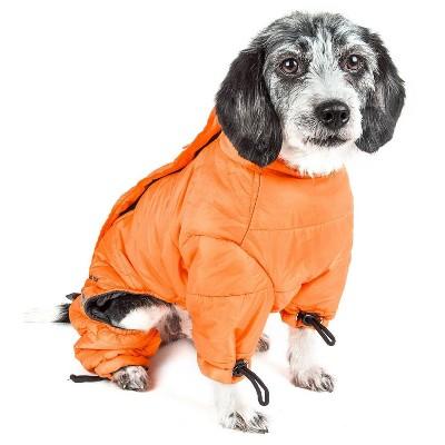 Dog Helios Thunder-Crackle Full-Body Waded-Plush Adjustable and 3M Reflective Dog and Cat Jacket - Orange