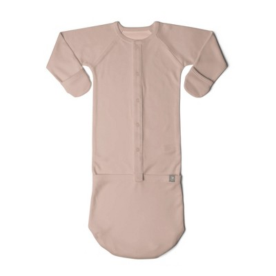 Goumi Baby Rose Organic Cotton Nightgown - Pink 0-3M