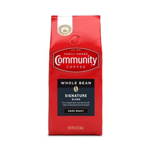 Community Coffee Dark Roast Whole Bean Coffee - 12oz - image 1 of 4