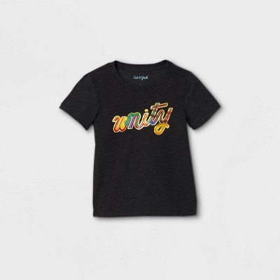 Toddler Boys' Unity Graphic Short Sleeve T-Shirt - Cat & Jack™ Black